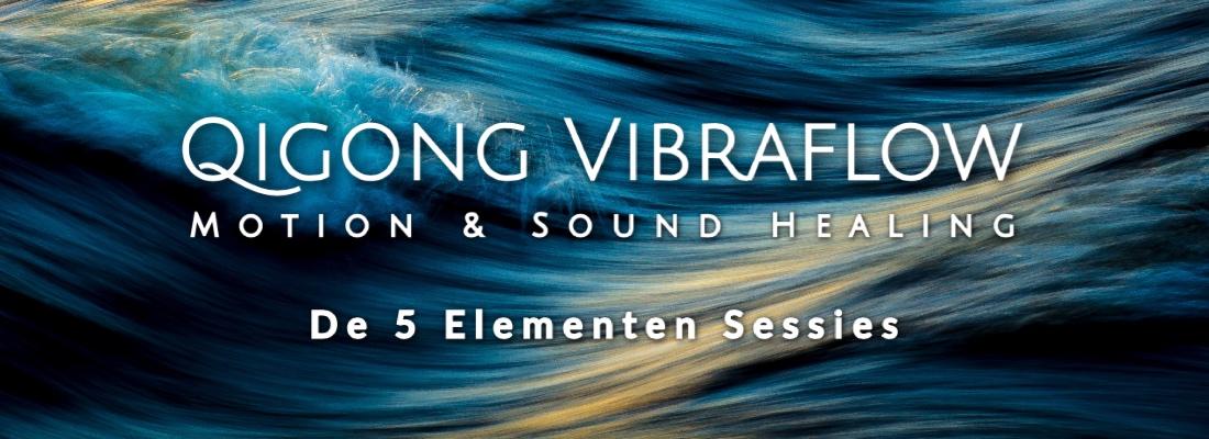 Vibraflow banner - Met golven achtergrond