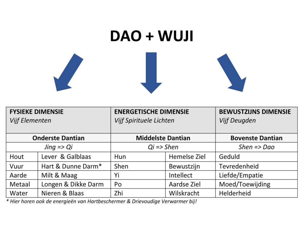 Tabel De vijf spirituele lichten - Daoïsme - TCM